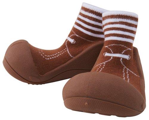 Baby feet ベビーフィート ラバー底ソックス FORMAL (12.5cm , Formal BROWN ブラウン )