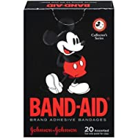 Band-Aid Mickey Mouse Collector's Series Adult Adhesive Bandages, Assorted Sizes, 3/4 X 3, & 5/8 X 2 1/4, 20 Count (Pack of 4) by Band-Aid