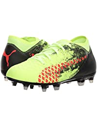 [PUMA(プーマ)] キッズスニーカー?靴 Future 18.4 FG/AG Soccer (Big Kid) Fizzy Yellow/Red Blast/Puma Black 4 Big Kid (23cm) M