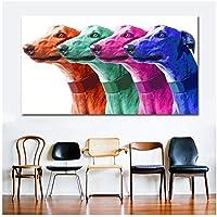 アートキャンバス絵画ポスタープリント動物絵画現代壁アート画像-60x120cmフレームなし