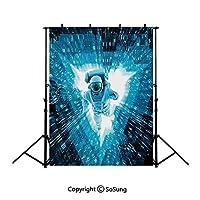 背景布 宇宙飛行士、ブルー1.5×3.0m 布地 写真撮影 バックペーパー 人物/商品撮影 背景シート 撮影スタジオ用 アイロンかけ可 折り畳み可 洗濯可 バレンタインデー主題