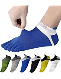 WIOIW 5本指ソックス メンズ スポーツ ランニング ソックス オールシーズン 吸汗速乾 抗菌防臭 5本指靴下 5/6足セット