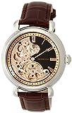 [ブルッキアーナ]BROOKIANA オリジン クレッシェンドムーン 自動巻き シルバー×ブラウンレザー BA2602-RGBK メンズ 腕時計