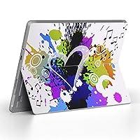 Surface go 専用スキンシール サーフェス go ノートブック ノートパソコン カバー ケース フィルム ステッカー アクセサリー 保護 ラブリー ハート 音符 000913