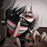Lulu LAB 東京喰種 トーキョーグール 金木 研 風 ウイッグ マスク 4点セット ( マスク + 眼帯 + ウイッグ + ウイッグネット )