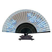 """女性のためのギフトのための中国のファン美しいハンドヘルドファン折りたたみファン8.27""""(21センチメートル)"""