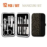 12Pcs Beauty Stainless Steel Kit Manicure Nail Clippers Cleaner Cuticle Pedicure