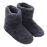Mianshe 冬 北欧ルームシューズ ルームブーツ 暖かい もこもこ 可愛い 靴下 来客用 男女兼用 (Lサイズ 27cmくらいまで, ブルー)