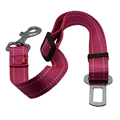 Zenify Heavy Duty Dog Seat Belt - Durable Car Seat Leash for Dogs Puppies - Pet Harness Vehicle Safety