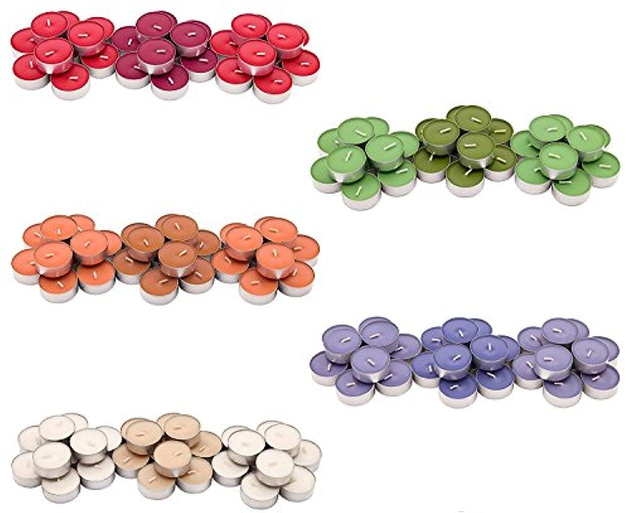 共役キャッチ気性IKEA SINNLIG 香り付ティーライト 30ピース × 5種類(レッドガーデンベリー、ピーチ&オレンジ、スイートバニラ、リンゴ&洋ナシ、ブラックベリー)