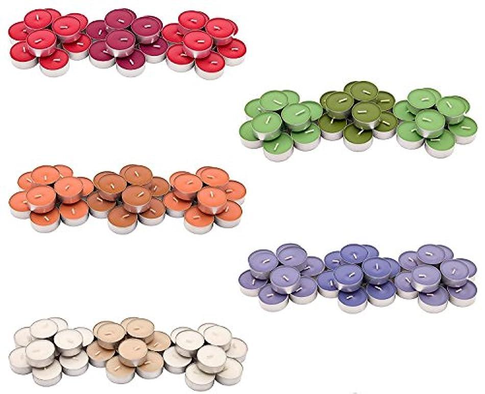 一貫した送信する練るIKEA SINNLIG 香り付ティーライト 30ピース × 5種類(レッドガーデンベリー、ピーチ&オレンジ、スイートバニラ、リンゴ&洋ナシ、ブラックベリー)