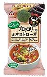 アマノフーズ フリーズドライ 化学調味用無添加 食べる温野菜スープ ブロッコリーのミネストローネ 11g×6袋 (無添加 温野菜スープ)
