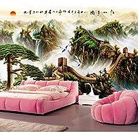 Ljjlm 大3D壁画中国の万里の長城の壁紙レストランのリビングルームのソファテレビの壁の寝室の壁紙の家の装飾-360X240CM