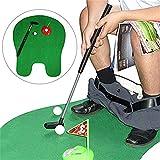 ACHICOO トイレゴルフ トイレパットマット ゴルフゲーム 浴室 ミニ ゴルフトレーニング