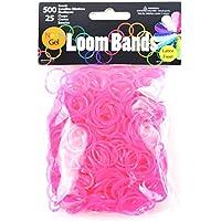 Gel Loom Bands Value Pack 500 Bands & 25 Clips/Pkg-Rose Red Gel (並行輸入品)