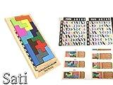 木製テトリスパズル ボードゲーム ジグソーパズル ペントミノとブロックを使う知育玩具