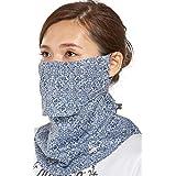 (シンプソン)Simpson 息苦しくない 日焼け防止 紫外線防止 UVカット フェイスマスク フェイスカバー STA-M03 ネイビー
