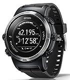 [エプソン] 腕時計 リスタブルジーピーエス GPSランニングウォッチ 脈拍計測 J-350B ブラック