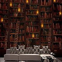 Bzbhart テレビの背景装飾画、壁用ステッカーカスタム3 D立体大壁画の寝室のリビングルームのソファの背景布の壁紙のヴィンテージの壁紙コンチネンタルの棚-250cmx175cm