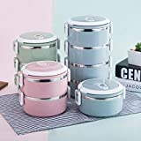 JJSFJH Stainless Steel Insulated Lunch Box Multi-function Student Lunch Box Multi-layer Lunch Box Separated Insulation Bucket