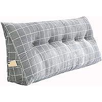 PENGFEI クッションベッドの背もたれ三角クッション ベッドソファ 大型背もたれ ウエストケア ウォッシャブル、 11色、 6サイズ (色 : Gray 2#, サイズ さいず : 135x20x50CM)