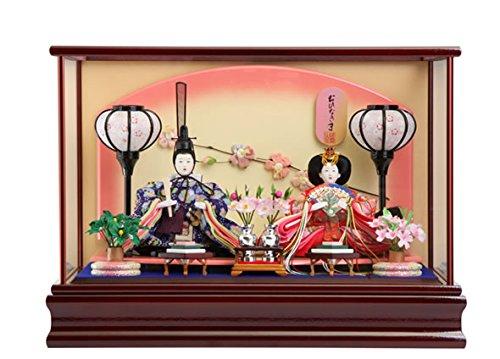 河西 雛人形 ケース飾り 親王飾り おひなさま 間口48×奥行32.5×高さ24.5 cm mi-ks-s630