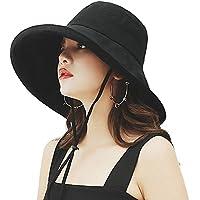 (アーバン ココ)[Urban CoCo]日よけ 帽子 レディース つば広 ハット uvカット あご紐付き 折りたたみ サイズ調節可