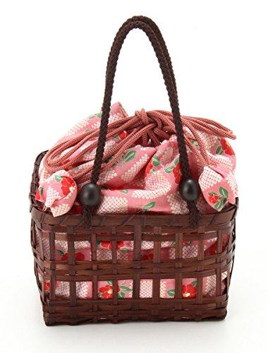 (ハニーズ コルザ) Honeys COLZA 角型カゴ(茶) 228121601995 ピンク