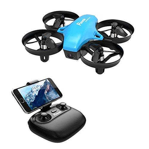 Potensic ドローン 高度保持 HD空撮カメラ WiFiリアタイム ヘッドレスモード 2.4GHz 4CH 6軸ジャイロ マルチコプター 日本語説明書付き 国内認証済み A20W ブルー