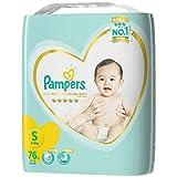 パンパース テープ S(4~8kg) はじめての肌へのいちばん 76枚