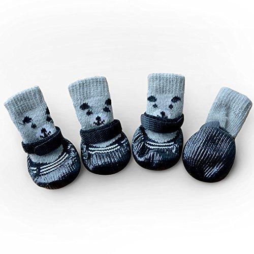 Innopet 犬用ソックス 靴下 犬用 防寒 滑り止め マジックテープ付き 暖かい クリスマス 可愛い 熊...
