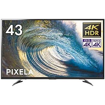 ピクセラ VPシリーズ 43V型 4Kチューナー内蔵液晶テレビ 4K Smart TV PIX-43VP100 外付HDD裏番組録画対応 Amazon Echo、Google Home対応