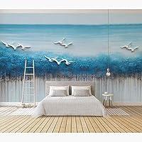 Ljjlm 風景壁紙ステッカー3Dエンボス写真壁紙壁画リビングルームの寝室の自己接着シルクの壁紙-260X180CM