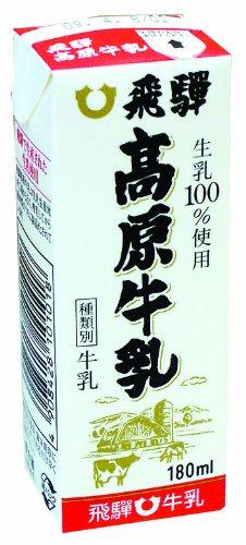紙パック180ml【飛騨牛乳】牛乳、コーヒー、パイン、オレンジの4種 (牛乳)