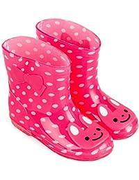 ange select キッズ 長靴 レイン ブーツ 動物 アニマル 柄 カラフル 子供 男の子 女の子 通園 通学 水遊び 梅雨