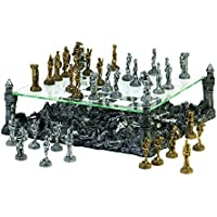 Glass Chess Set Medieval Themed Revolutionary Games Tournament Kids Modern Standard Adult Tabletop Decor
