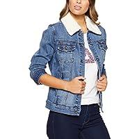 Jag Women Carly Shearling Denim Jacket