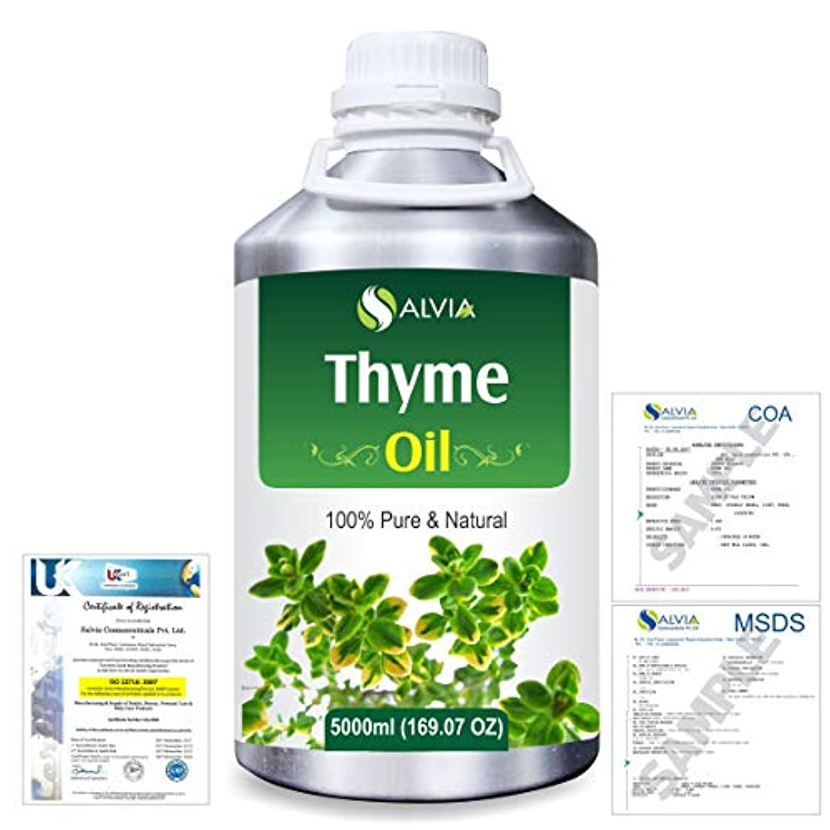 何でもスワップ演劇Thyme (Thymus vulgaris) 100% Natural Pure Essential Oil 5000ml/169fl.oz.