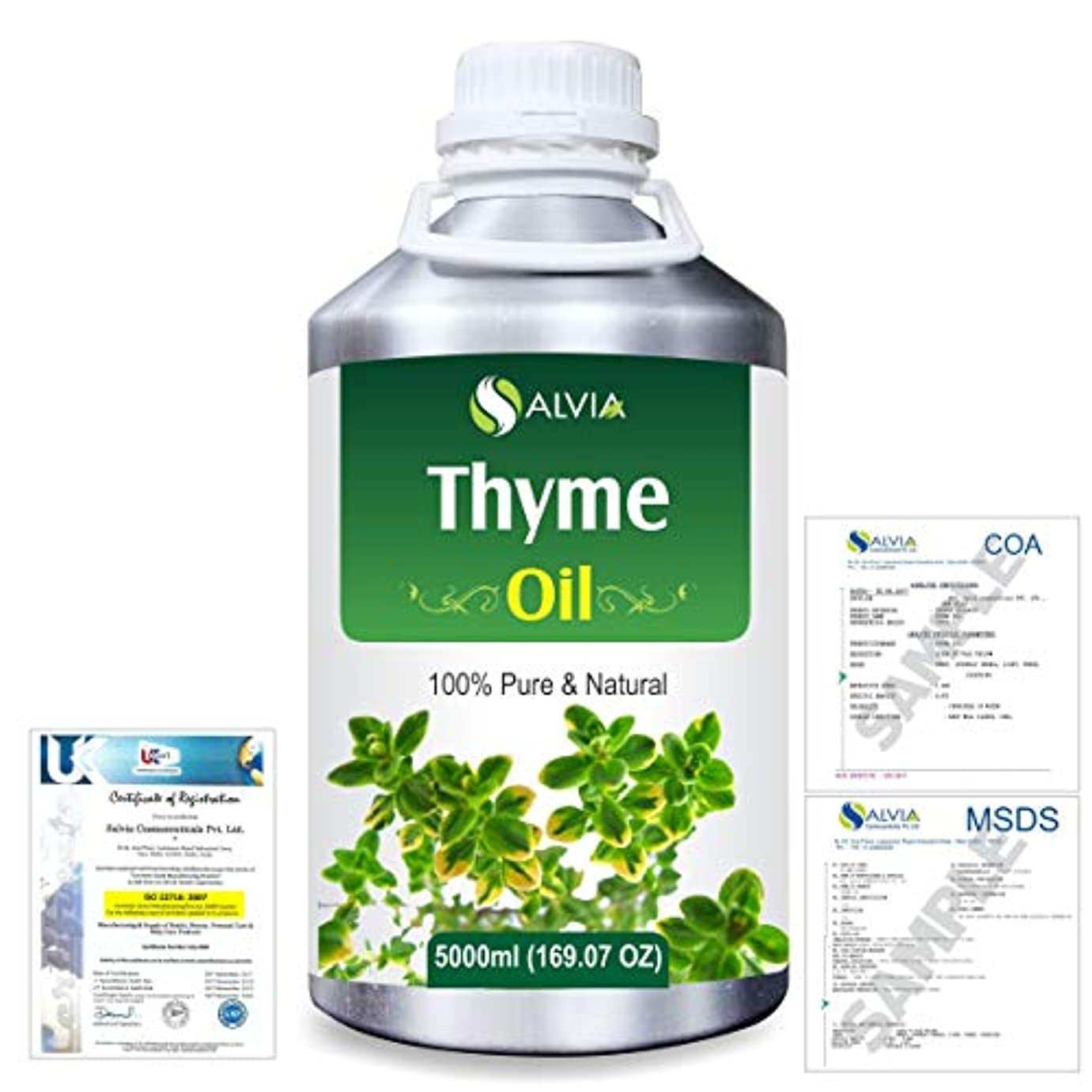 実際にぬいぐるみ詩人Thyme (Thymus vulgaris) 100% Natural Pure Essential Oil 5000ml/169fl.oz.