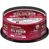 三菱化学 2倍速対応BD-RE DL 20枚パック 50GB ホワイトプリンタブルMITSUBISHI VBE260NP20SD1