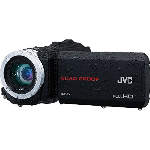 JVC Everio GZ-R70 Quad Proof Full HD Digital Video Camera Camcorder (Black) by JVC