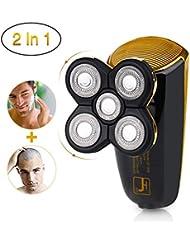 男性用電気かみそりのための電気かみそり完璧なハゲ見た目のための5つの頭のあごひげのかみそり男性の旅行や家庭用のコードレスと充電式セキュリティロックモード