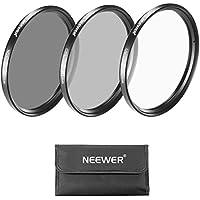 NEEWER 40.5mmフィルターキット(UVフィルター+CPLフィルター+ND4フィルター+フィルターケース+クリーニングクロース) Sony A6000/NEXシリーズ16-50mmレンズ Samsung NX300 N20-50mmレンズに対応 【並行輸入品】