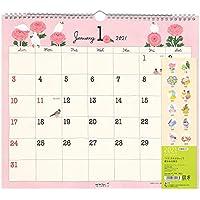ミドリ 2021年 カレンダー 壁掛け L トリ柄 31018006