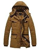 APTRO(アプトロ)メンズ ダウン式コート ダウン式ジャケット 中綿ダウン 冬コート 分厚い 起毛 アウターコートフード付き 暖かい 防寒コート 8818カーキ JP XXL(タグXXXL) (¥ 3,998)