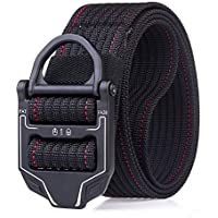 Canvas Belt Braided Canvas Stretch Breathable Waist Belt Elastic Casual Belt For Men (Color : Multi-colored, Size : 125cm)