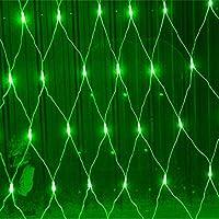 8つの点滅モードを備えた3Mx2M 200 LEDネットライト フェアリーライト、屋外防水、屋内 パーティー クリスマス 壁 ルーフ 庭園 芝生 デコレーション Green