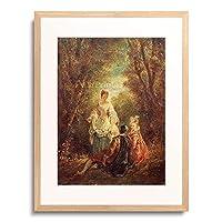 Auguste, Jules Robert,18.Jahrh. 「Konversation im Park.」 額装アート作品
