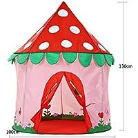 DD子供再生テント赤ちゃんゲームハウス人形Houseクリエイティブ折りたたみ可能なYurt城ギフト(ブルー、ピンク、レッド100130 CMのパックの1 ) レッド 14778