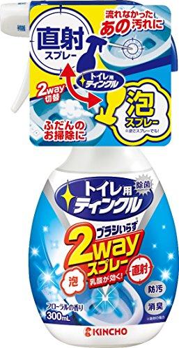 トイレ用ティンクル トイレ洗剤 直射・泡 2wayスプレー 本体 300mL